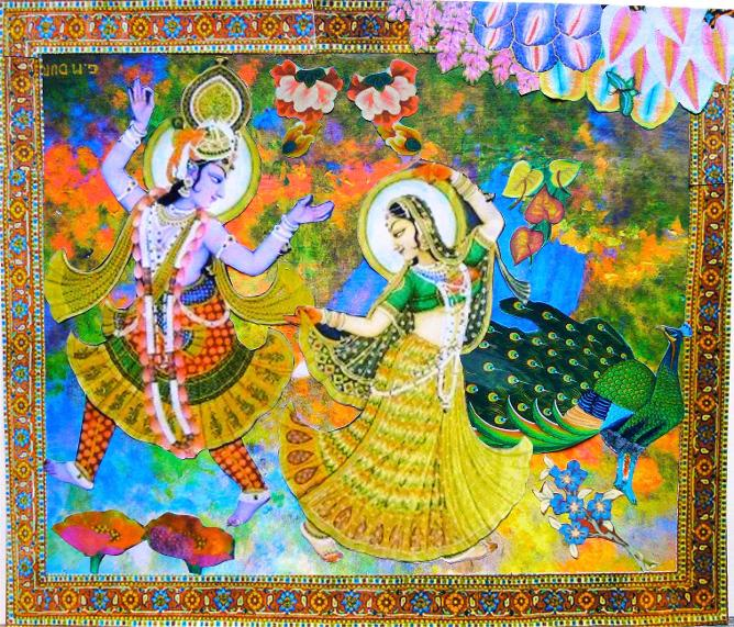 the dance of love, Rasa lila, in the lover bower, rasa lila